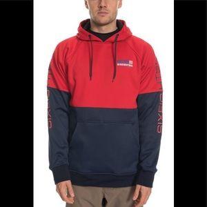 686 Mens Knockout Pullover Hoody Pre-Shrunk Blended Fleece Sweatshirts